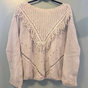 Fringe Knit Sweater